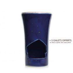 Brûle-parfum Bleu Marine