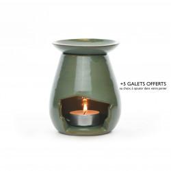 Brûle-parfum goutte vert d'eau 1
