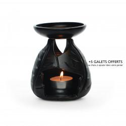 Brûle-parfum feuilles noir