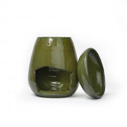 Brûle-parfum goutte vert antique 2