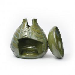 Brûle-parfum feuilles vert antique