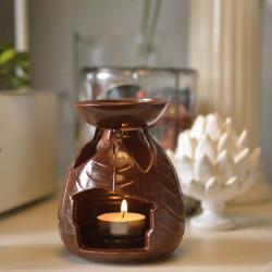 Brûle-parfum feuilles ambiance
