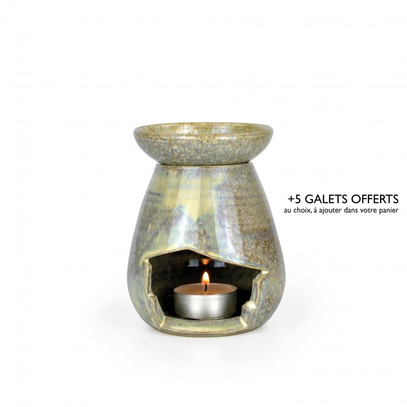 brûle-parfum goute gris irisé