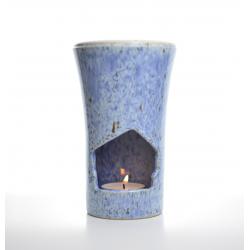 Brûle-parfum Bleu Azur allumé