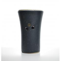 Brûle-parfum Noir Charbon vue de dos