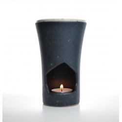 Brûle-parfum Noir Charbon allumé