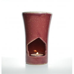 Brûle-parfum Rouge Merlot allumé