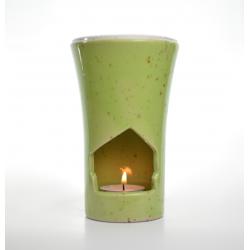 Brûle-parfum Vert Tilleul allumé
