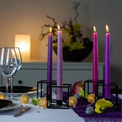 Ambiance chandelles violet clair 1