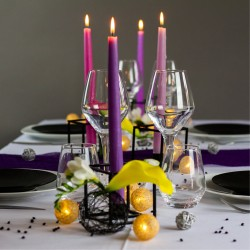 Ambiance chandelles violet clair 2