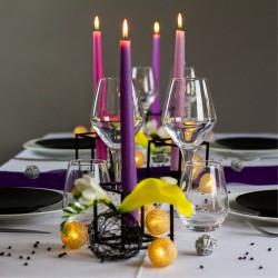 Ambiance chandelles violet foncé 1