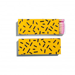 Allumettes longues léopard jaune 1