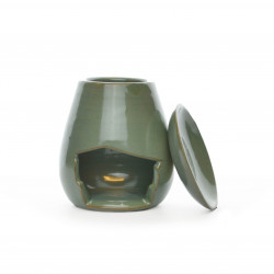 Brûle-parfum goutte vert d'eau 2