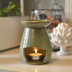 Brûle-parfum goutte vert d'eau ambiance