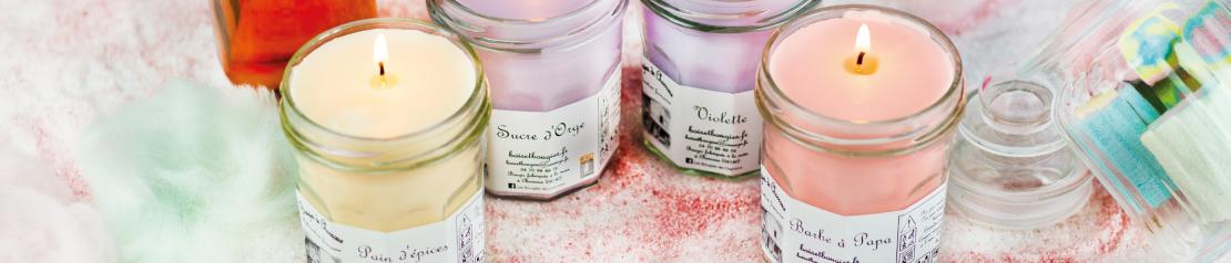 Bougies parfumées gourmandes : parfums sucrés Bougies de Charroux
