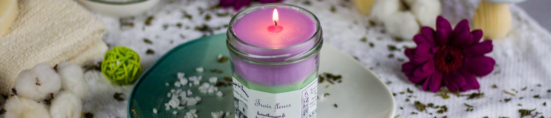 Bougies parfumées Trio : toutes les fragrances - Bougies de Charroux